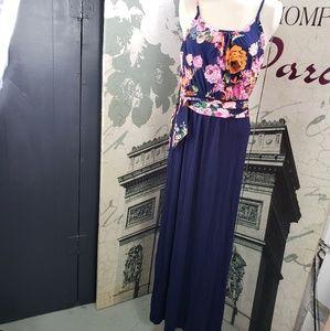 12PM by Mon Ami Floral Maxi Dress Size M